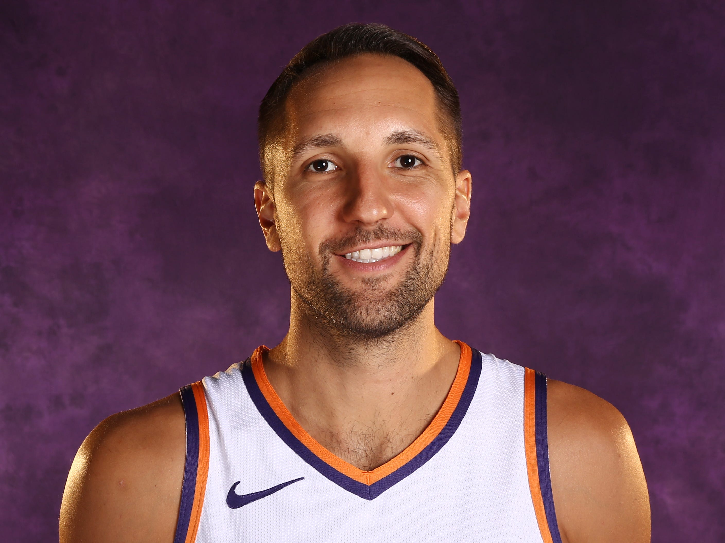 Phoenix Suns forward Ryan Anderson during media day at Talking Stick Resort Arena on Aug. 21, 2018, in Phoenix, Ariz.