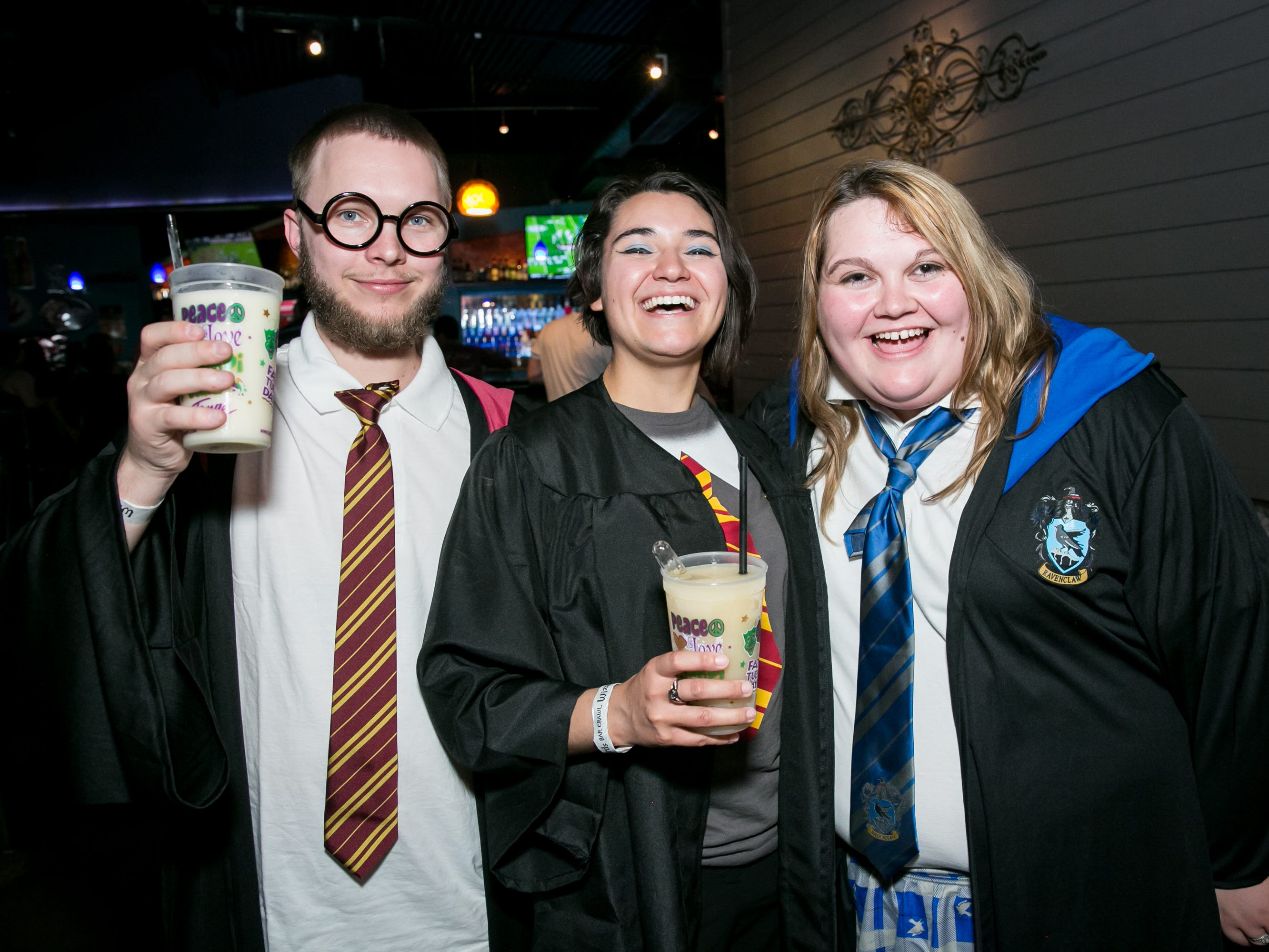 These pals went on an adventure at Fat Tuesday during the Wizards Bar Crawl in Tempe on Saturday, September 22, 2018.