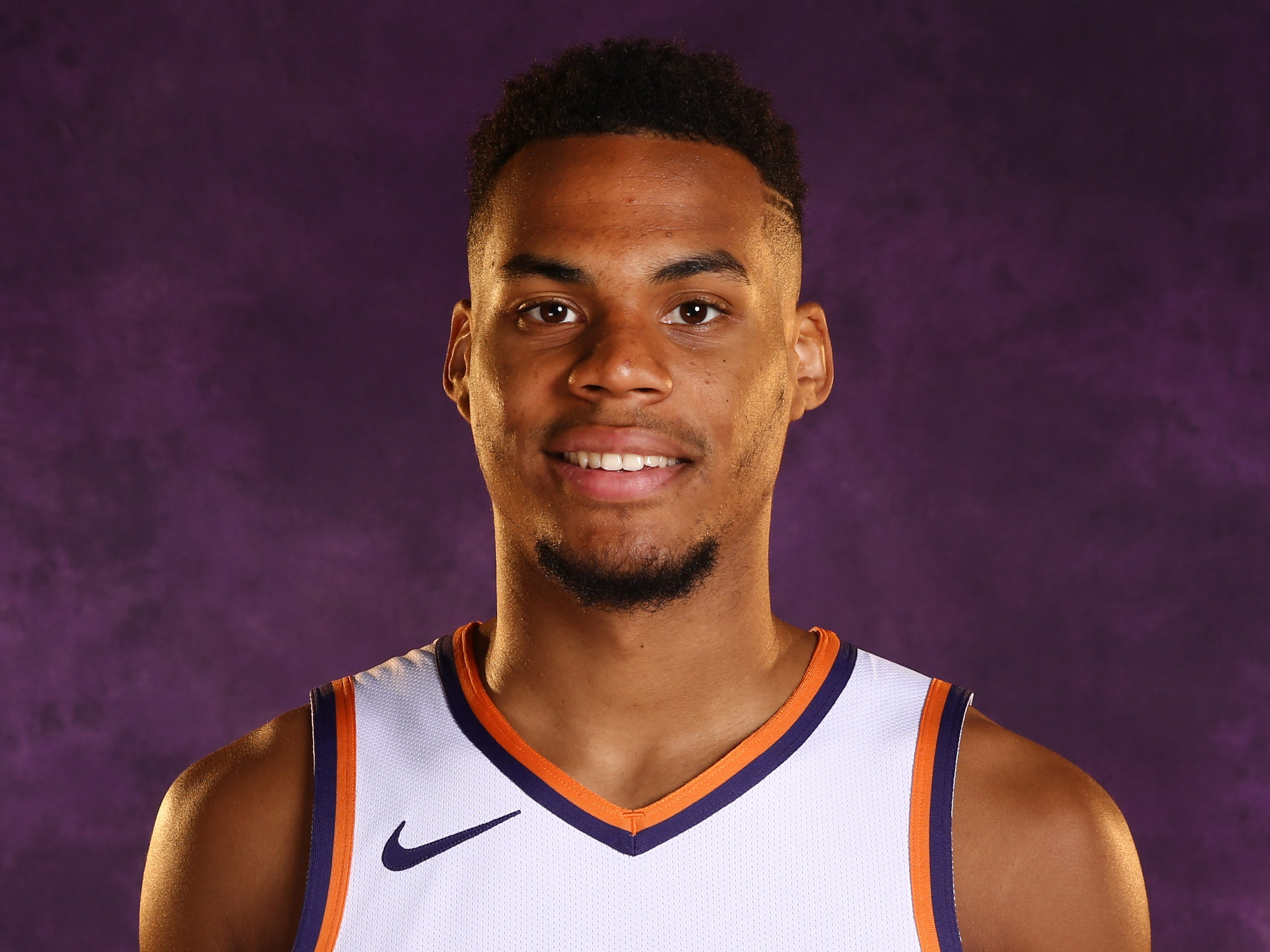 Phoenix Suns guard Elie Okobo during media day at Talking Stick Resort Arena on Aug. 21, 2018, in Phoenix, Ariz.