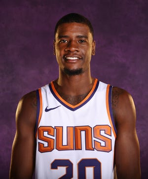 Phoenix Suns forward Josh Jackson during media day at Talking Stick Resort Arena on Aug. 21, 2018, in Phoenix, Ariz.