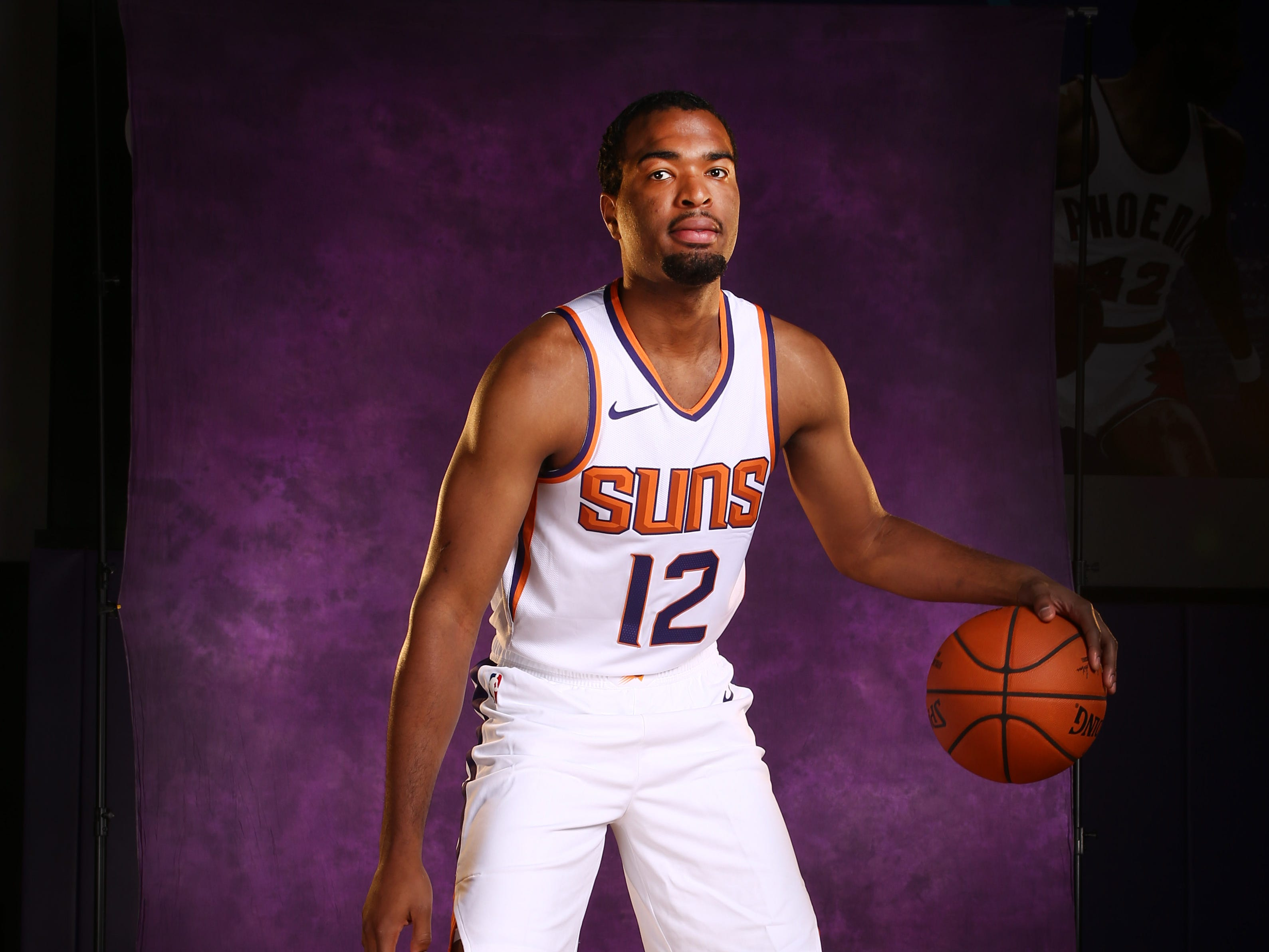 Phoenix Suns forward TJ Warren during media day at Talking Stick Resort Arena on Sep. 24, 2018, in Phoenix, Ariz.