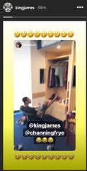 Monday, September 24: LeBron James responds to former Cavaliers teammate Kevin Love's instagram video of Channing Frye taking over James' old locker at the team's practice facility.