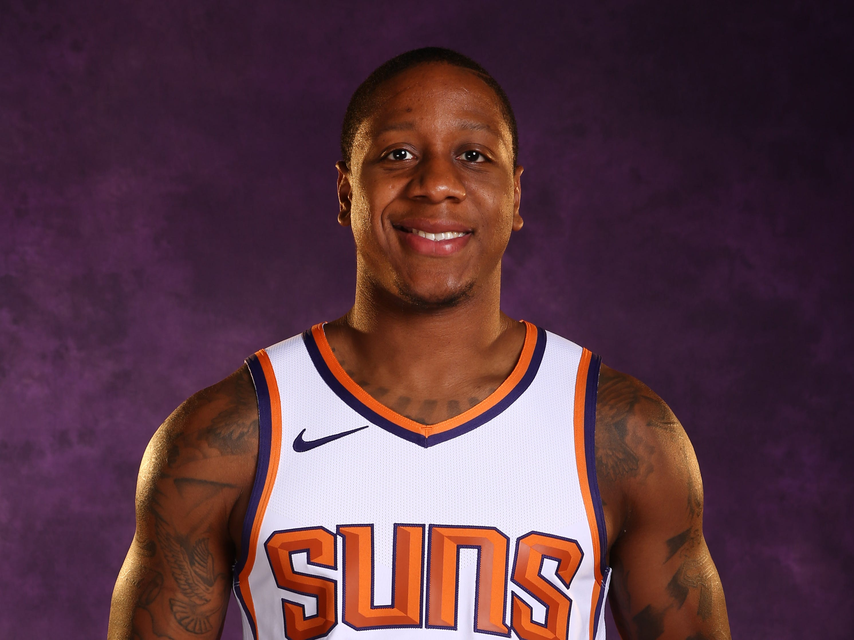 Phoenix Suns guard Isaiah Canaan during media day at Talking Stick Resort Arena on Sep. 24, 2018, in Phoenix, Ariz.