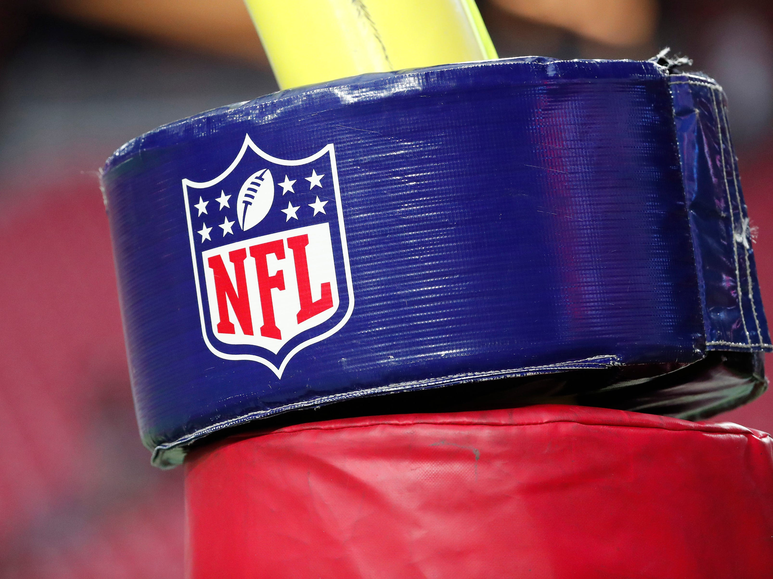 Goal post pad icon before NFL action between the Arizona Cardinals and the Chicago Bears at State Farm Stadium in Glendale, Ariz. September 23, 2018.