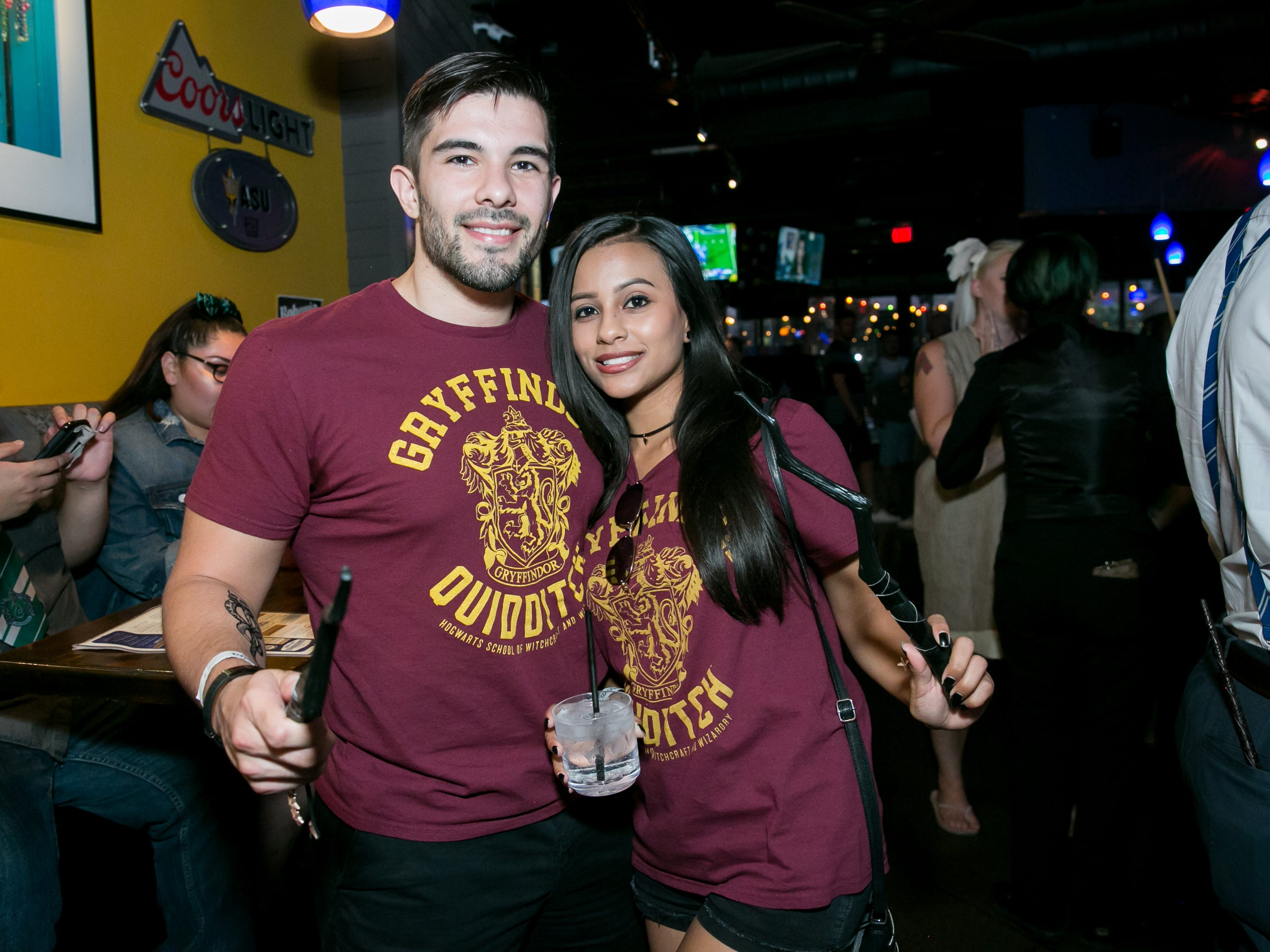 These Gryffindors showed off their great wands at Fat Tuesday during the Wizards Bar Crawl in Tempe on Saturday, September 22, 2018.