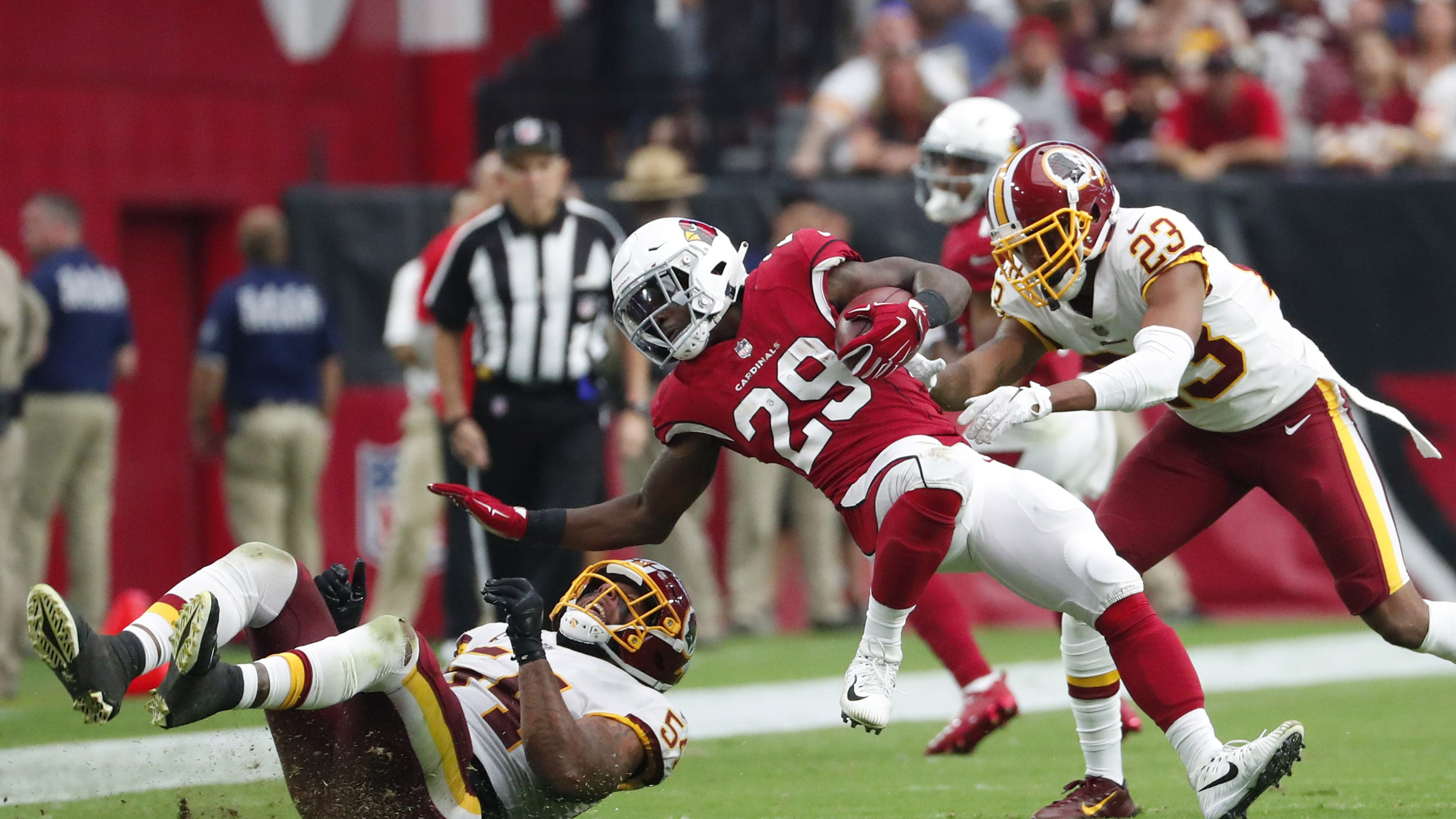 Cardinals RB David Johnson on absence for controversial third and 2: 'I missed a blitz'