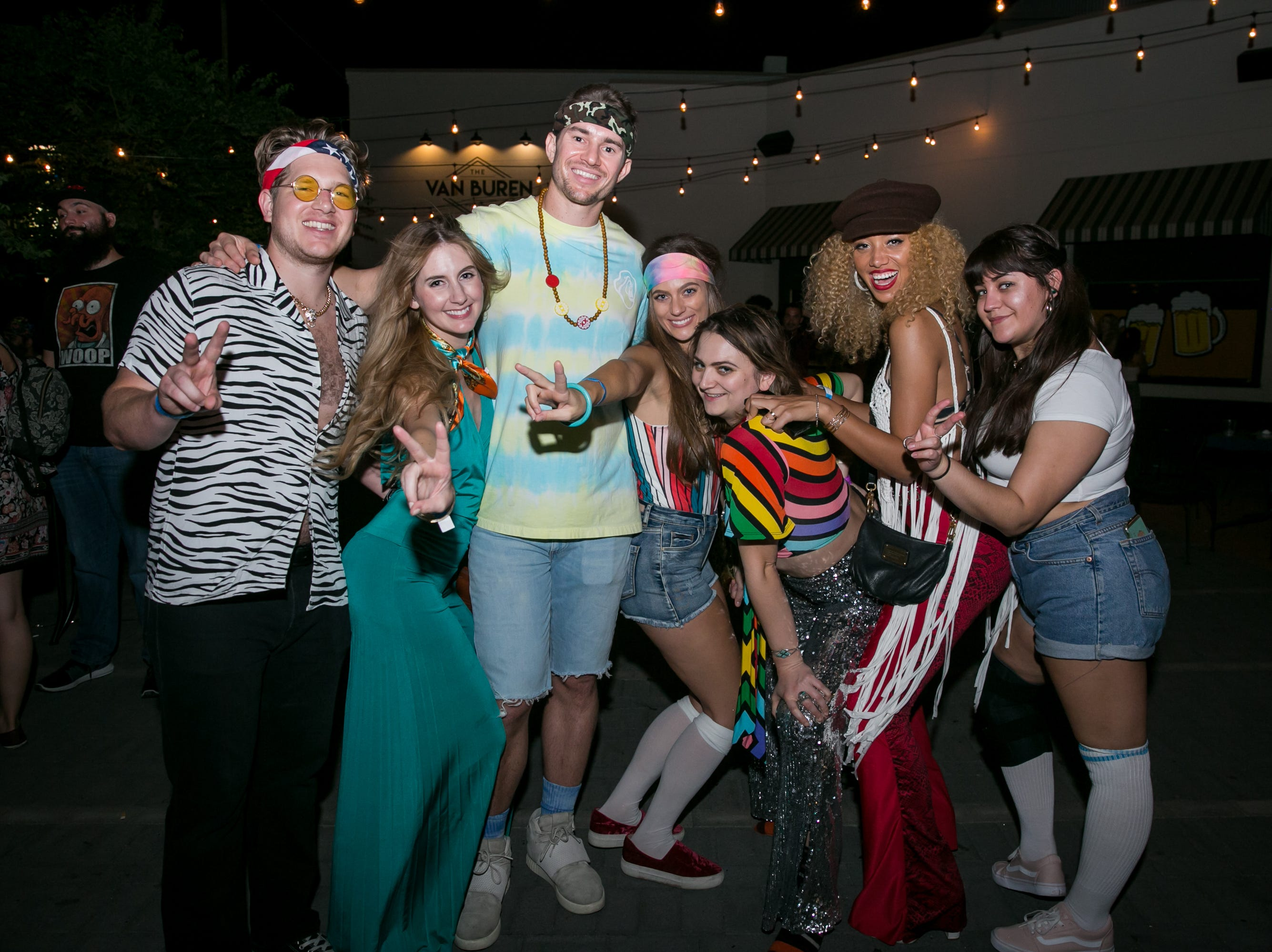 These pals were a blast from the past during The Van Buren's Roller Disco Dance Party on Friday, September 21, 2018.