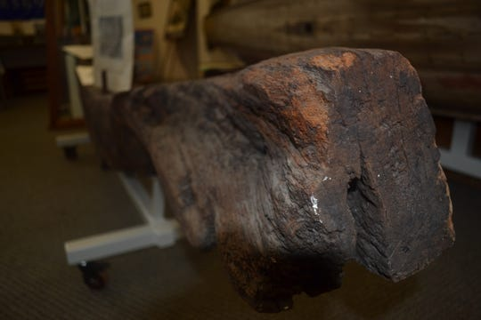 This section of the hull of the Niagara – Commodore Oliver Hazard Perry's flagship during the Battle of Lake Erie – is one of many War of 1812 artifacts on display at the Ottawa County Museum. Next month, a tomahawk with ties to the war will be added to the collection.