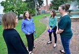 Community members met at a Chambersburg park as part of the National Walkout to support Dr.  Christine Blasey Ford who has accused Judge Brett Kavanaugh, who is President Trump's nominee for the U.S. Supreme Court, of sexually assaulting her. Women across the country met to show solidarity.
