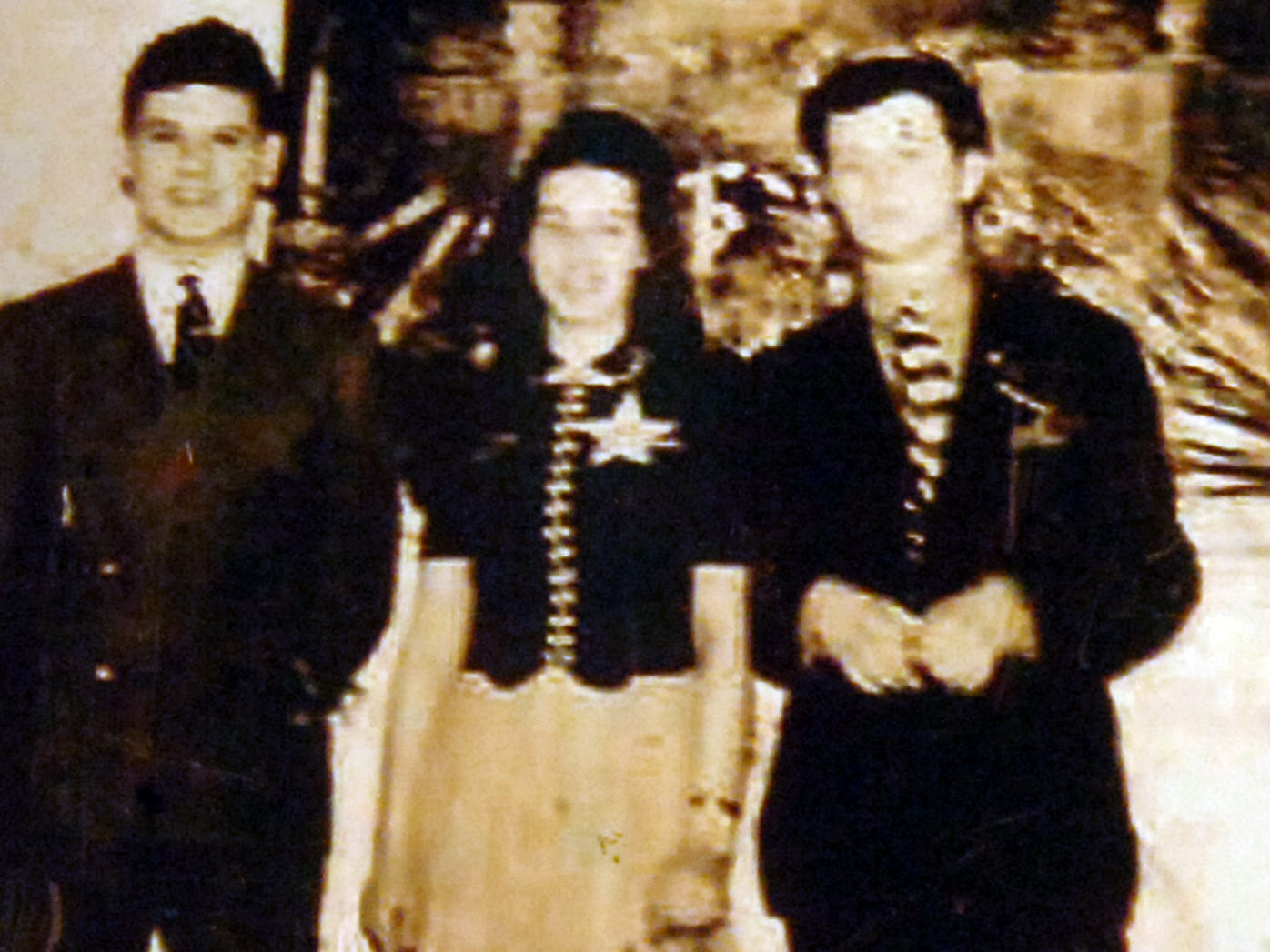 In the middle is Ann Small Niess at her 16th birthday party in 1939 in what is now the Elmwood Mansion. To her left is childhood friend Dan Meckley and to her right, a former boyfriend, the late Mark Shananberger.