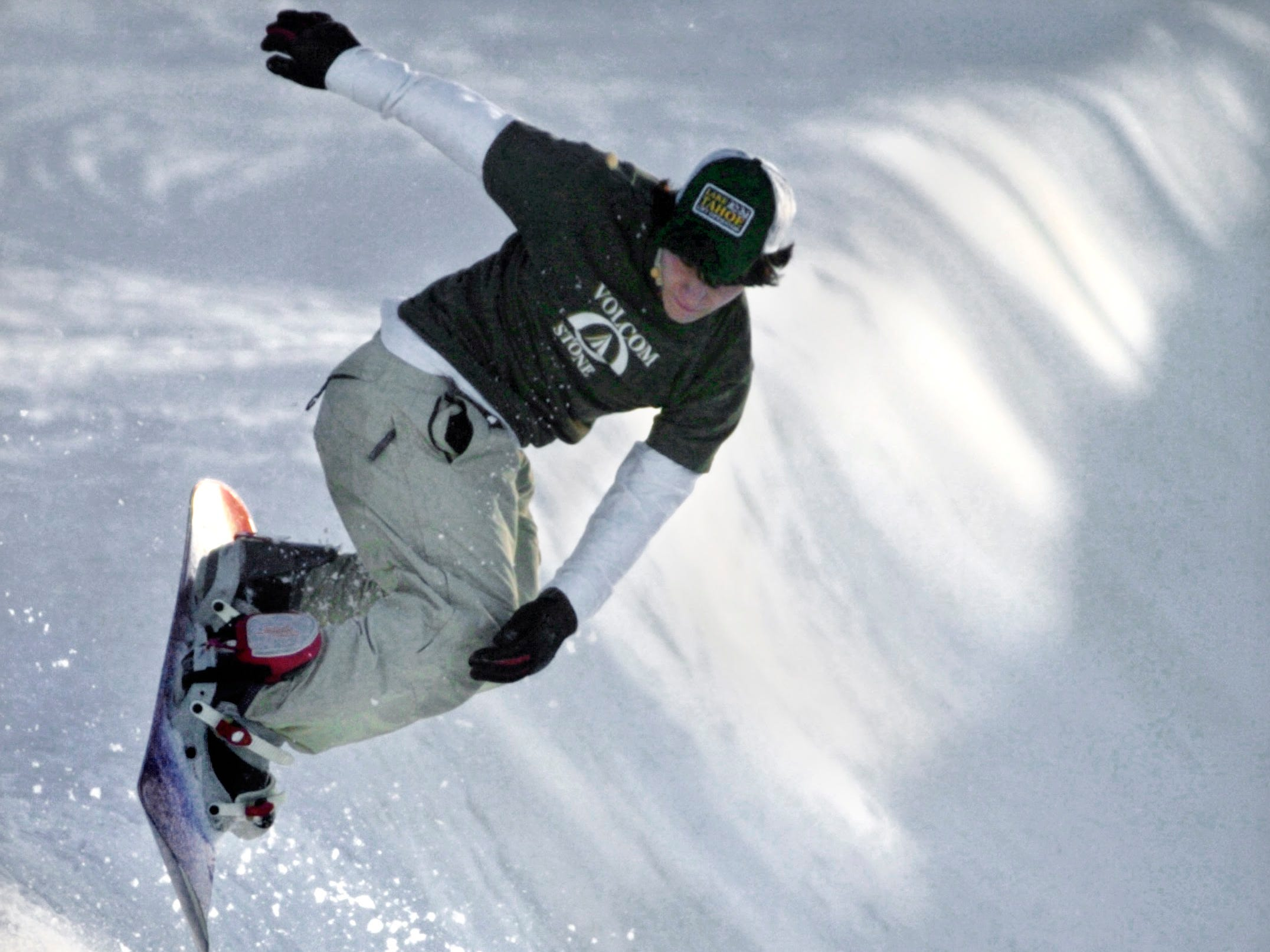 The Half-pipe at Ski Roundtop December 2003.