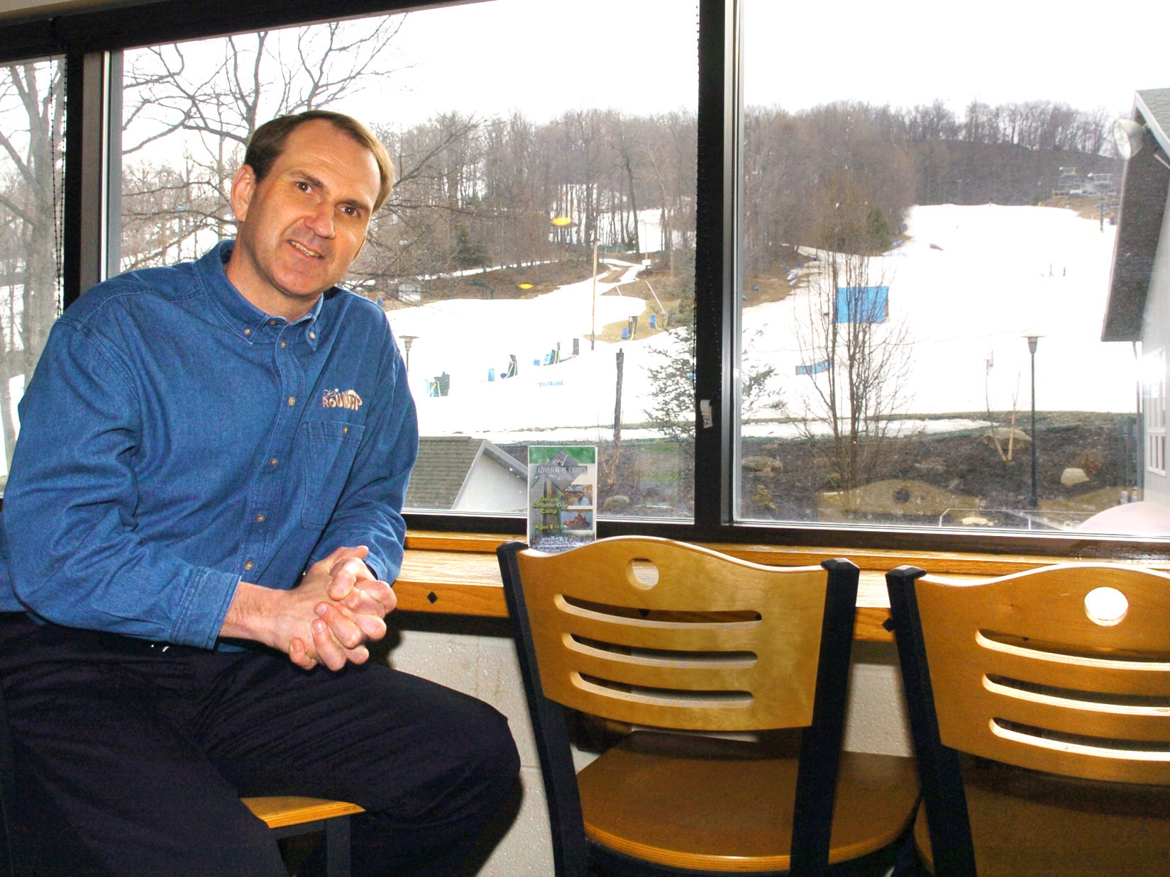 Ski Roundtop general manager Ron Hawke in the lodge March 12, 2009.