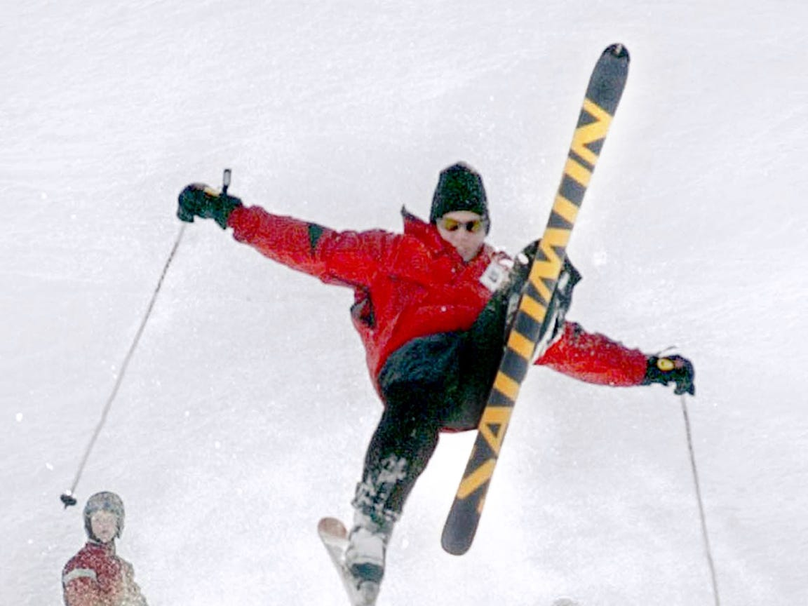Kyle Robbins, a first year ski instructor at Ski Roundtop, has learned the sport well, mainly from trial and error he said on February 18, 2003.