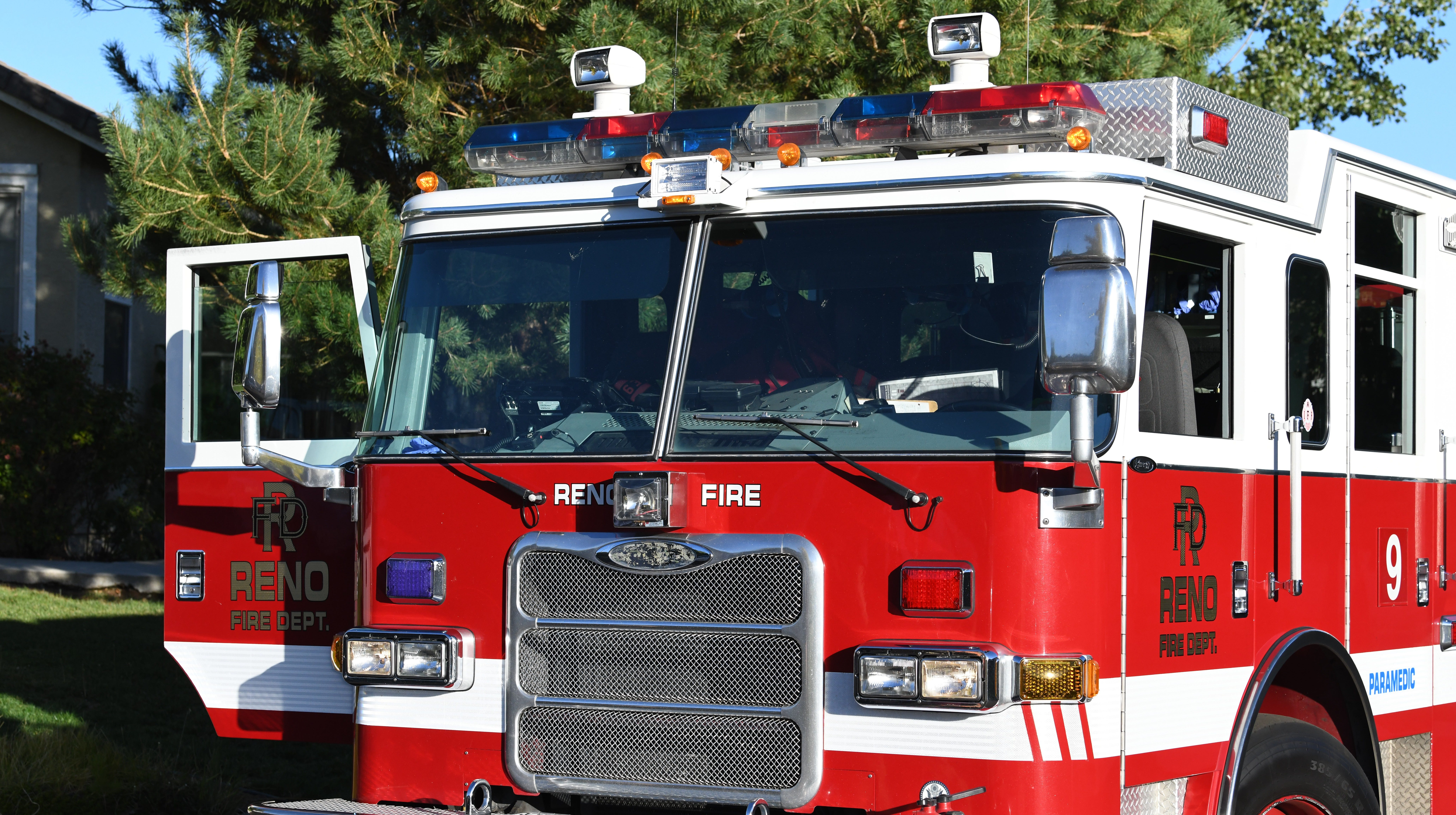 A file photo of a Reno Fire Department engine on Sept. 23, 2018.