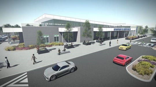 A rendering of the future Department of Motor Vehicles office in south Reno. It is expected to open in late 2020.