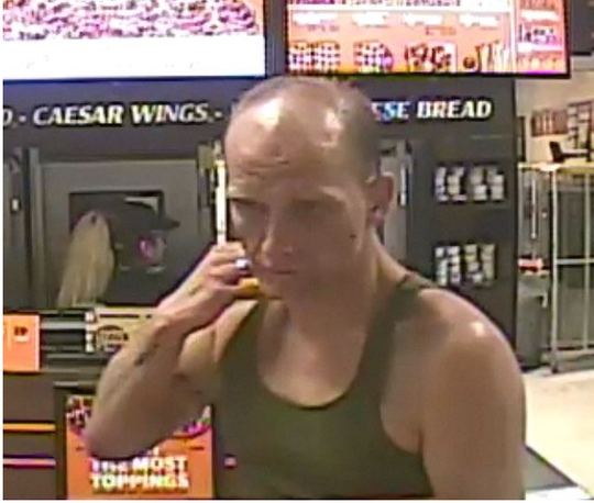 A surveillance photo released by the Reno Police Department that they said helped lead to the arrest of 34-year-old Phillip Turner.