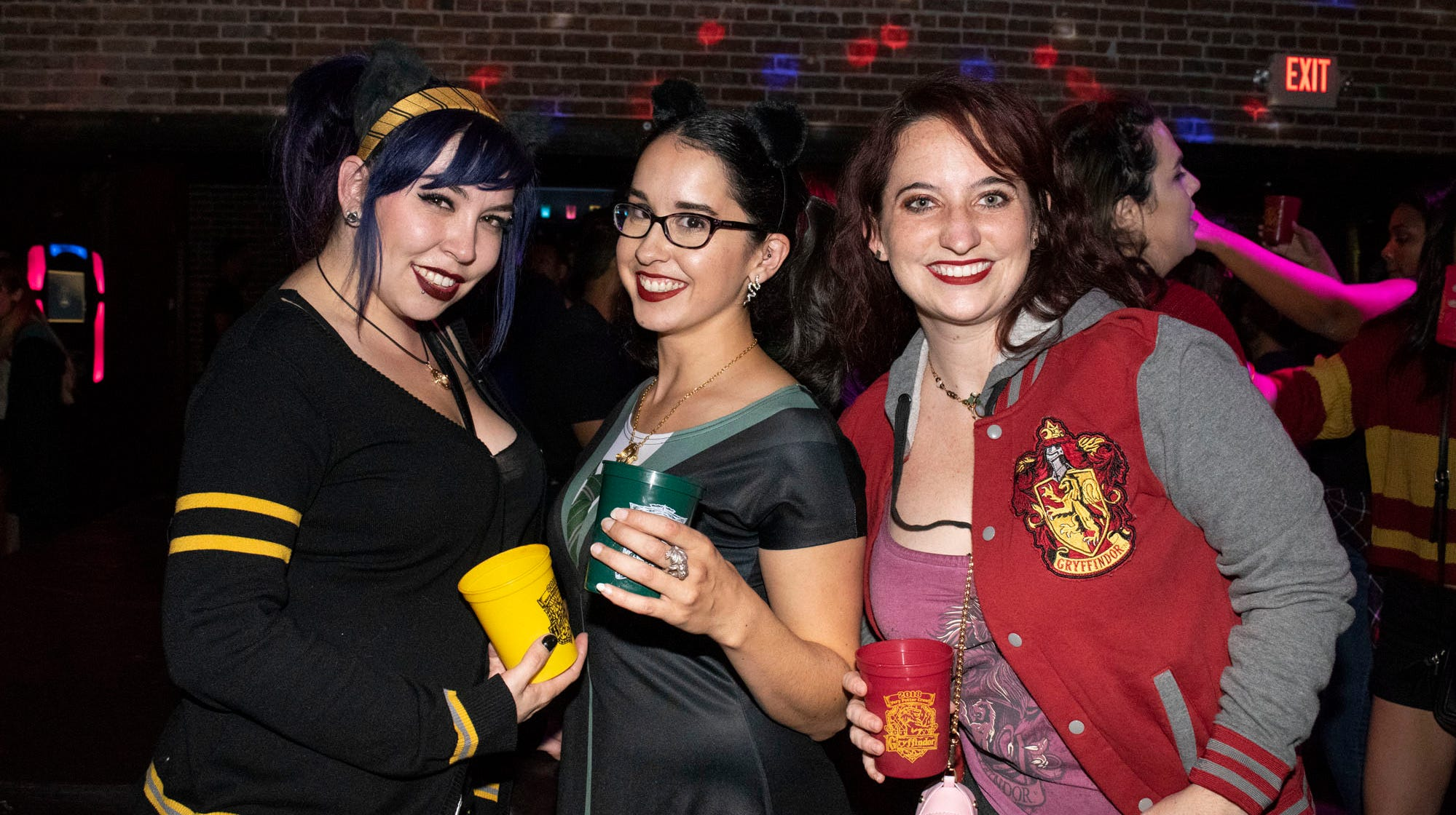 Tara, Michelle, and Lexi attend the Harry Potter Crawl on Saturday, Sept. 22, 2018.