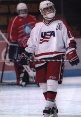 Brian Gionta as a 15-year-old with the USA Hockey's Under-16 team.