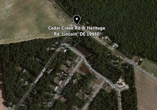 Cedar Creek Rd At Heritage Rd Lincoln