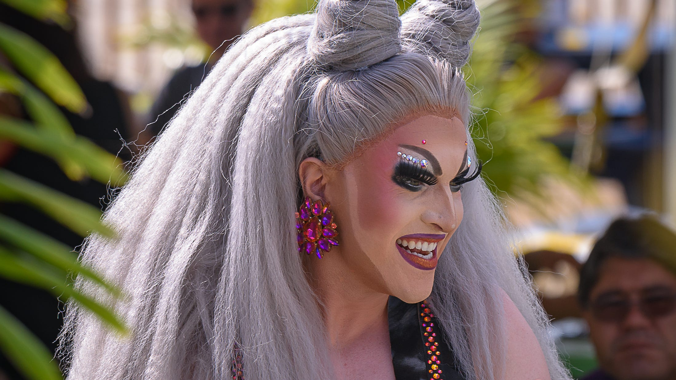 Chicki Parm hosts the Shore Pride Drag Brunch at the Jackspot restaurant in Cape Charles on Sunday.