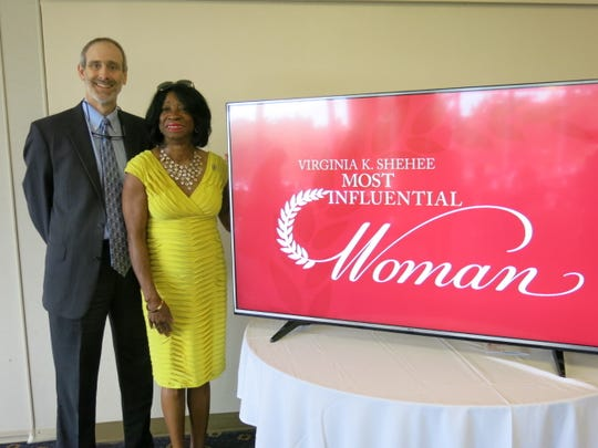 Times Executive Ed Jeff  Gauger and state Rep. Barbara Norton at Most Influential Woman Luncheon.