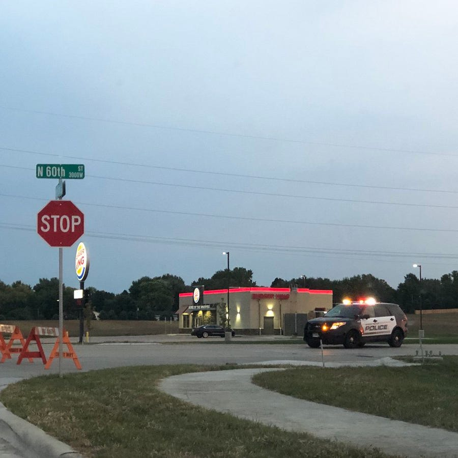 60th Street North in Sioux Falls was closed early Monday for several hours while police investigated a crash.