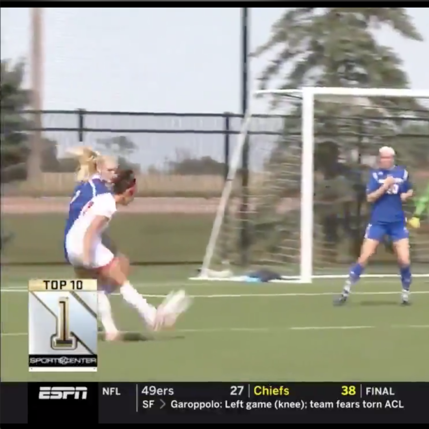 'Just like Beckham': Joana Zanin's ridiculous goal earns top play honors on SportsCenter