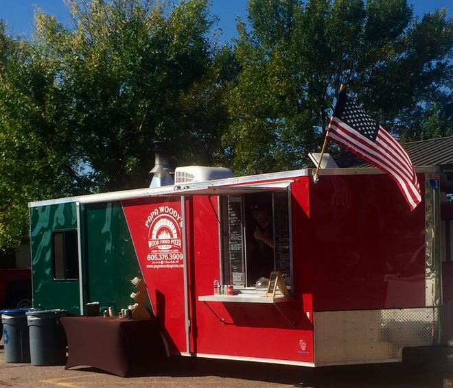 A contributed photo of the Papa Woody's Wood-Fired Pizza food truck.