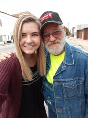 This is Art Elwell and his good friend, Lydia Hansen. Hansen bought Elwell a cup of coffee last year when he had no money. She also prayed for him after hearing his story. Elwell said the two have remained close ever since.
