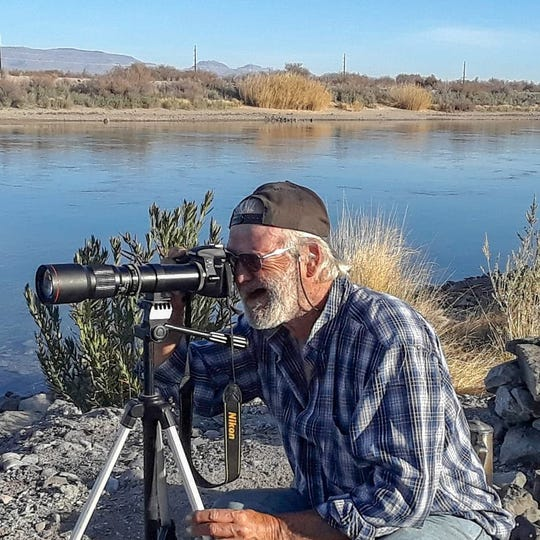 A friend took this photo of Art Elwell while he was camping next to the Colorado River. He camped there for nearly three months last year.