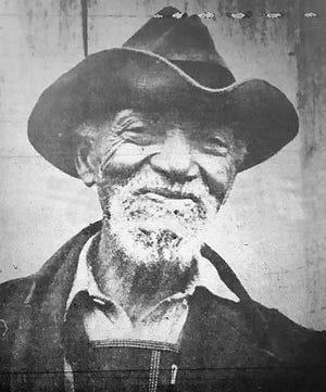 Waynesboro News-Virginian photo of Uncle Jim Williams, July, 1940.