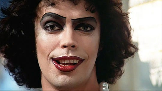 "Come up to lab and see what is on the slab when Tim Curry stars in cult musical ""The Rocky Horror Picture Show"" (1975)."