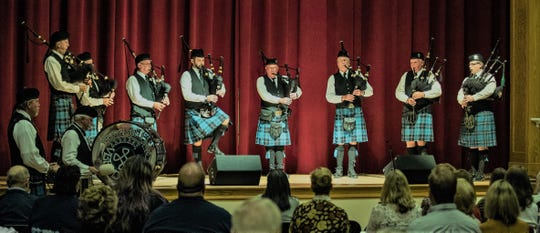 The Vero Beach Pipes and Drums will perform with the Vero Beach High School Celtic Club at First Presbyterian Church of Vero Beach on Nov. 10, 2018.