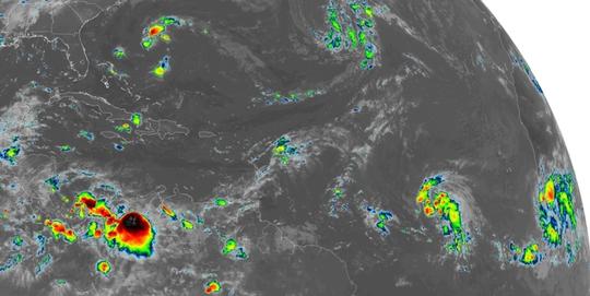 Tropical Atlantic 6 a.m. Sept. 24, 2018