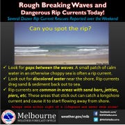 Dangerous beach conditions exist on the Treasure Coast Sept. 24, 2018.