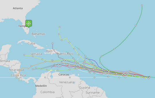 Tropical Depression Kirk 7 a.m. Sept. 24, 2018