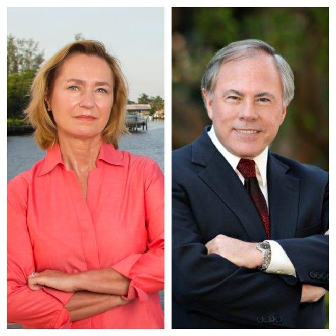 Florida House District 82 candidates MaryLynn Magar (left) and Edward O'Connor