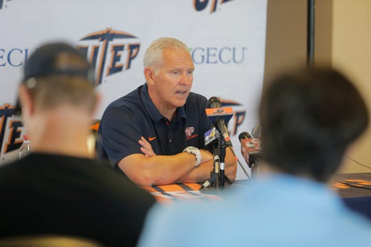 UTEP head coach Dana Dimel discusses his team's 27-20 loss to NMSU on Sept. 22 in the Battle of I-10. The Miners next traveled to San Antonio for their game Saturday against the UTSA Roadrunners.