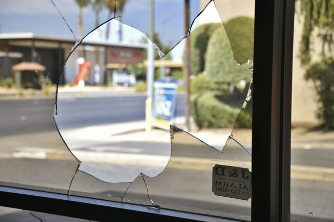 Visalia police responded to a call at the Janz campaign headquarters. The property owners made the call when they discovered multiple windows on the north side of the building had been vandalized.