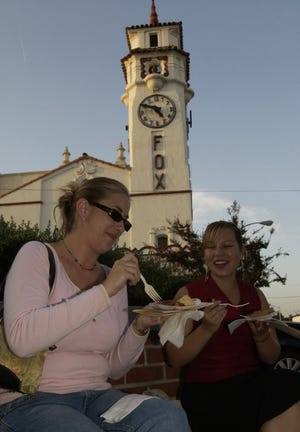 Patrons enjoy the Taste of Downtown Visalia in 2004.