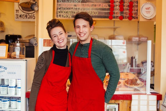 Bri and Wil Tyler of Pie Lady and Son. The popular shop will soon open in its new spot in downtown Nyack.