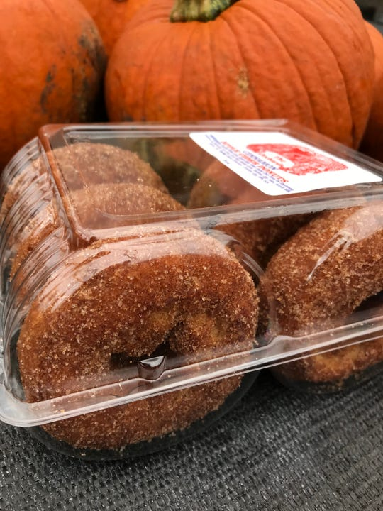Apple cider doughnuts from The Orchards of Concklin in Pomona.  Photographed Sept. 21, 2018.