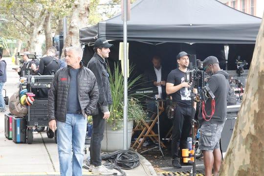 A Netflix production is being filmed in Piermont on Piermont Avenue which was closed to traffic during the filming on Sept. 24, 2018.