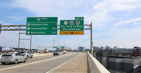 The viaduct on I-95 through Wilmington will be rebuilt as part of a massive, 2-year highway construction project.