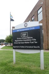 The Delaware Department of Transportation's Division of Motor Vehicles building in Dover.