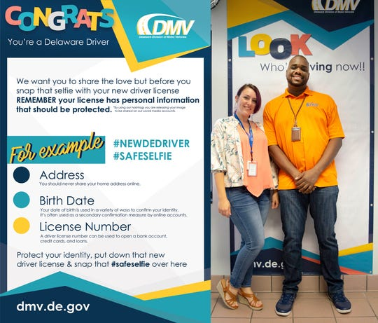 The Safe Selfie Zone now at all four Delaware DMV locations, was the brainchild of Willie Goldsboro and designed by Laura Russum.