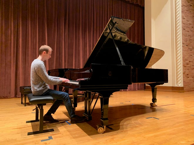 Aaron Johnson will be one of four Midwestern State University music students who perform on the new Steinway grand piano in the Akin Auditorium tonight at 7:30 p.m. for the MSU Piano Celebration. The event runs from 6:30 p.m. until 9:30 p.m. and includes an open house, a performance and a reception.