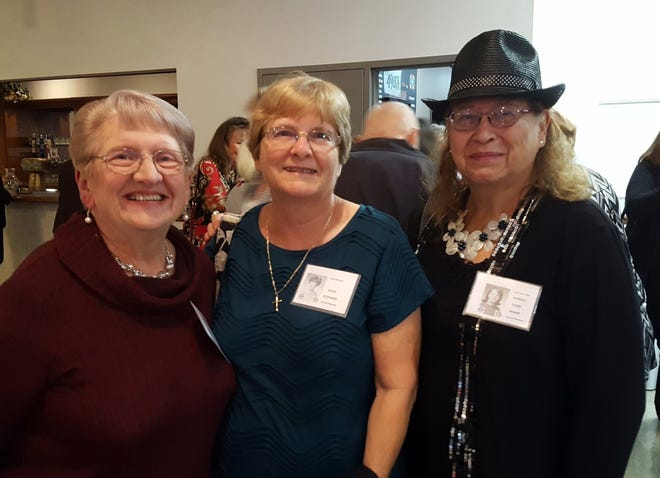 Susan with her long-time friends, Joyce Stephens, and Shirley Marx.