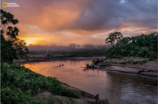 The Yur A River meanders near the Peru-Brazil border. Photo by Charlie Hamilton James/ National Geographic