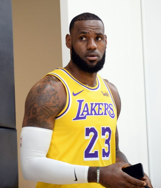 0579812b826 Usp Nba Los Angeles Lakers Media Day S Bkn Usa Ca. LeBron James ...